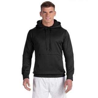 Men's Big and Tall Black/Black Colorblock Pullover Hood