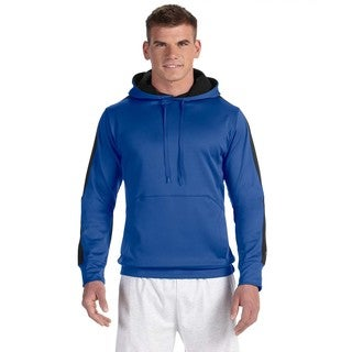 Men's Big and Tall Athletic Royal/Black Colorblock Pullover Hood