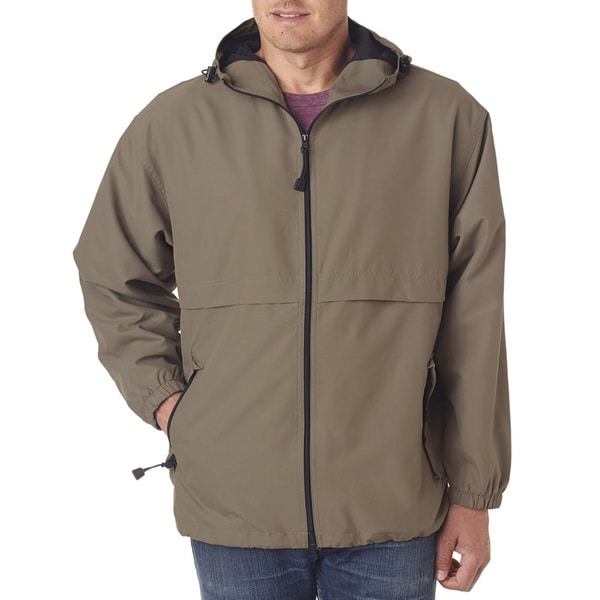 Microfiber Mens Big and Tall Driftwood Full-Zip Hooded Jacket