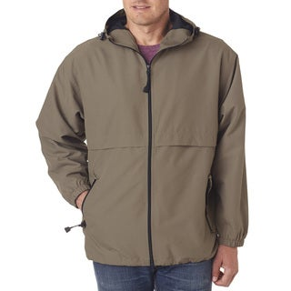 Microfiber Men's Big and Tall Driftwood Full-Zip Hooded Jacket