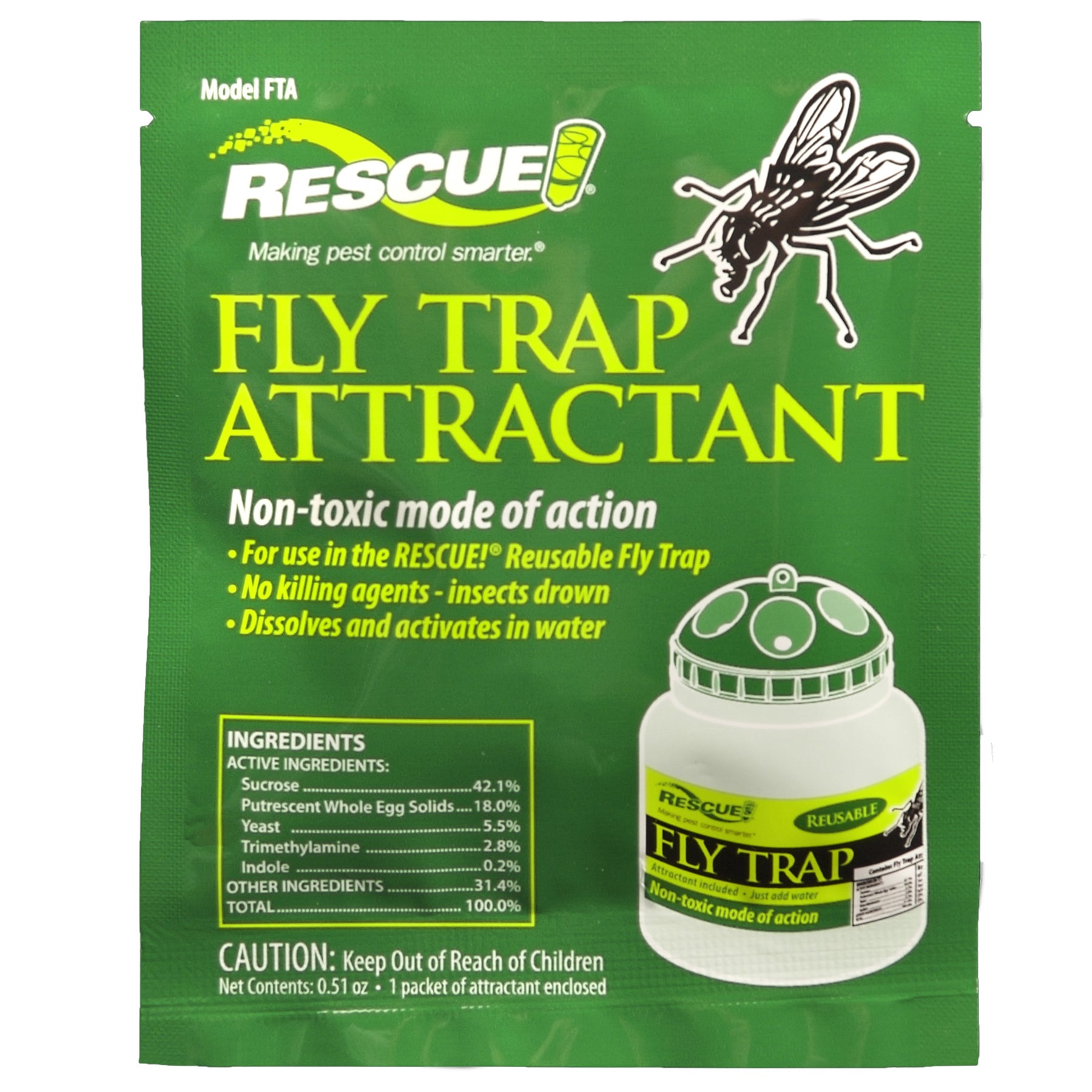 Rescue FTA-DB18 Rescue! Fly Trap Attractant (Insect & Rod...