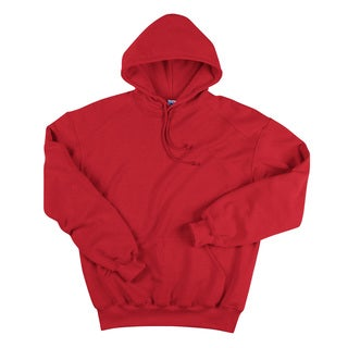 Men's Big and Tall Hooded Red Fleece