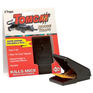 Tomcat BL33505 Tomcat Mouse Heavy Duty Snap Traps 2-count