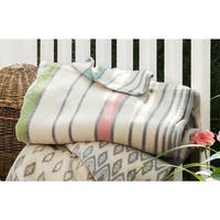 IBENA Sorrento Candy Stripe Oversized Throw Blanket