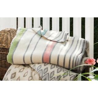 IBENA Sorrento Candy Stripe Oversized Throw Blanket