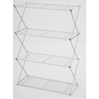 Flowerhouse EXY40W 47-Inches H X 48-Inches W X 16-Inches D White 4-Tier Exy Shelving