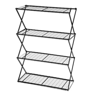 Flowerhouse EXY40B 47-Inches H X 48-Inches W X 16-Inches D Black 4-Tier Exy Shelving