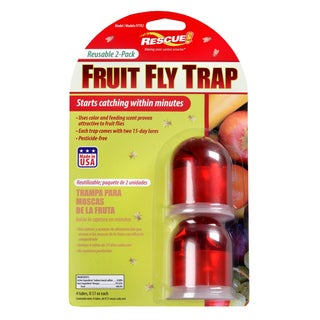 Rescue FFTR2-SF6 Fruit Fly Trap 2-count