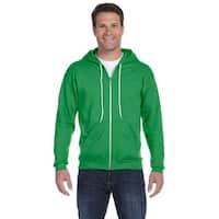 Men's Big and Tall Full-Zip Hooded Green Apple Fleece