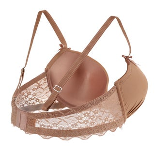Sweet Embroidered Double-strap Underwire Bra and Panty Set