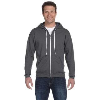 Men's Big and Tall Full-Zip Hooded Charcoal Fleece