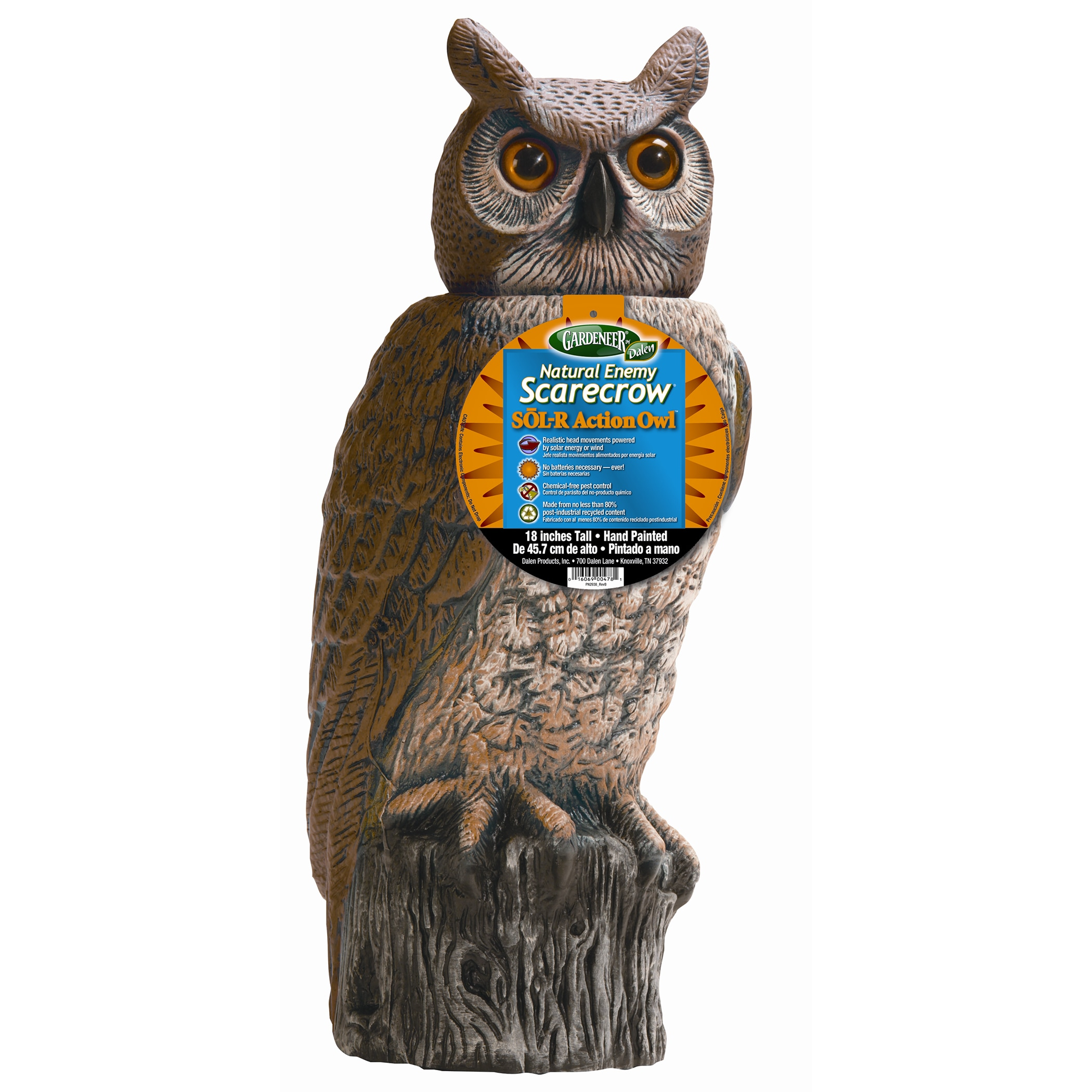 Gardeneer Srho-4 Sol-R Action Owl (Animal Repellents), Br...