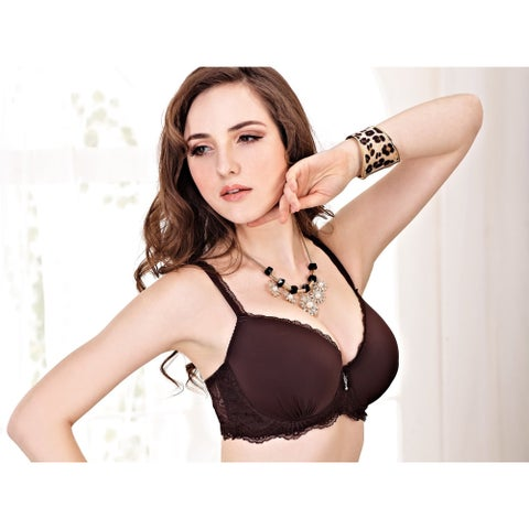 Natural Supportive Padded Underwire Bra with Adjustable Straps
