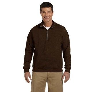 Men's Big and Tall Vintage Classic Quarter-Zip Cadet Collar Russet Sweatshirt