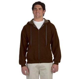 Men's Big and Tall Vintage Classic Full-Zip Russet Hooded Jacket