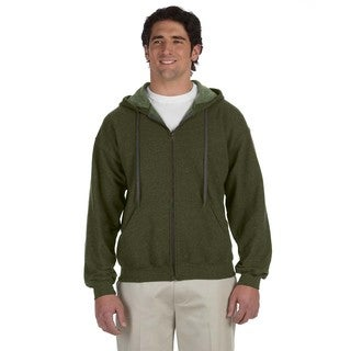 Men's Big and Tall Vintage Classic Full-Zip Moss Hooded Jacket