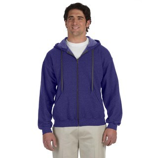 Men's Big and Tall Vintage Classic Full-Zip Lilac Hooded Jacket