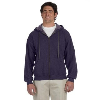 Men's Big and Tall Vintage Classic Full-Zip Blackberry Hooded Jacket