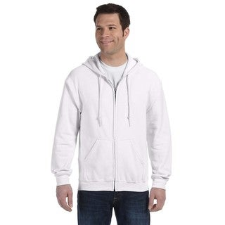 50/50 Men's Big and Tall Full-Zip White Hooded Jacket
