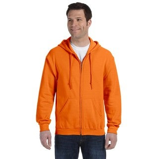 50/50 Men's Big and Tall Full-Zip Safety Orange Hooded Jacket