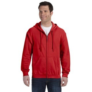 50/50 Men's Big and Tall Full-Zip Red Hooded Jacket