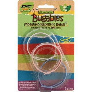 PIC BUG-BAND3 Mosquito Repellent Wristband Pack 3-count