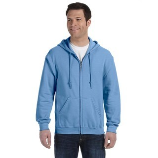 50/50 Men's Big and Tall Full-Zip Carolina Blue Hooded Jacket