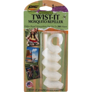 PIC TWIST-IT Citronella Plus Twistable Armbands Mosquito Repellent