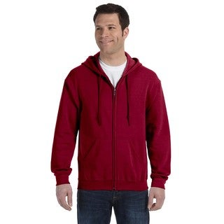 50/50 Men's Big and Tall Full-Zip Cardinal Red Hooded Jacket