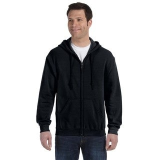 50/50 Men's Big and Tall Full-Zip Black Hooded Jacket