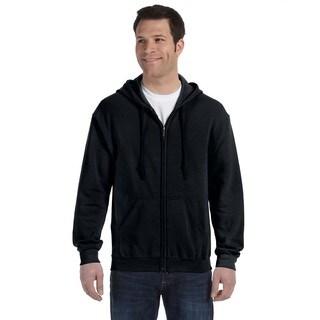 50/50 Men's Big and Tall Full-Zip Black Hooded Jacket