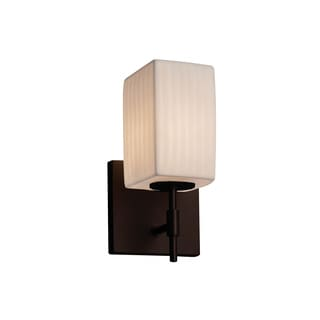 Justice Design Group Limoges Union Bronze Square with Flat Rim Short Wall Sconce