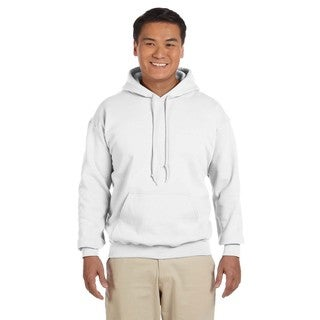 Men's Big and Tall 50/50 White Hooded Jacket