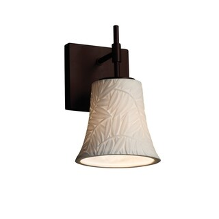Justice Design Group Limoges Union Bronze Round Flared Short Wall Sconce