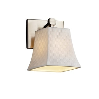 Justice Design Group Limoges Tetra Nickel Square Flared Wall Sconce
