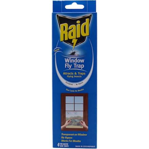 Raid FTRP-RAID Raid Window Fly Trap 4-count