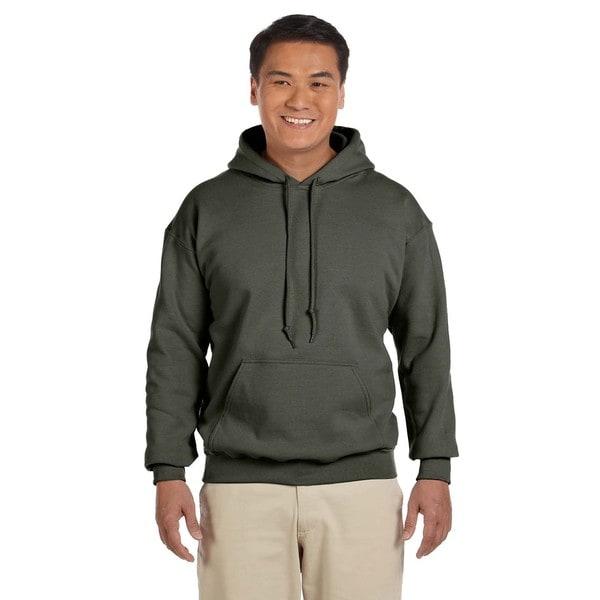 Mens Big and Tall Military Green 50/50 Hood