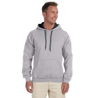 Men's Big and Tall Sport Grey/Black 50/50 Contrast Hood