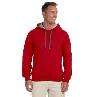Men's Big and Tall Red/Sportort Grey 50/50 Contrast Hood