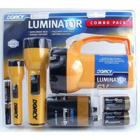 Dorcy 41-2865 6 Volt 2D and AA Cell Luminator Flashlight Combination Pac