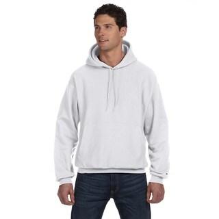 Reverse Weave Men's Silver Grey Pullover Hood