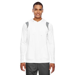 Elite Men's Big and Tall White/Sport Graphite Performance Hoodie