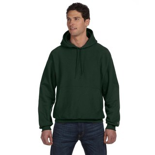 Reverse Weave Men's Dark Green Pullover Hood (XL)