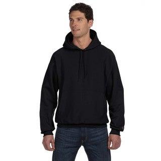 Reverse Weave Men's Black Pullover Hood (XL)