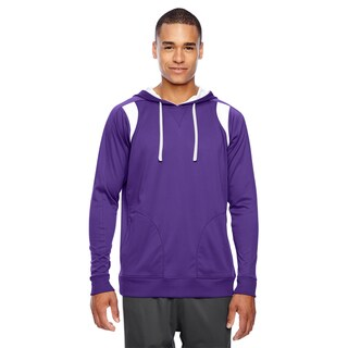 Elite Men's Big and Tall Sport Purple/White Performance Hoodie (3 options available)