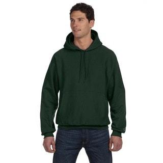Reverse Weave Men's Dark Green Pullover Hood
