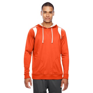 Elite Men's Big and Tall Sport Orange/White Performance Hoodie