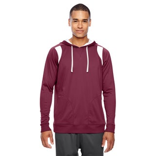 Elite Men's Big and Tall Sport Maroon/White Performance Hoodie