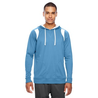 Elite Men's Big and Tall Sport Light Blue/White Performance Hoodie