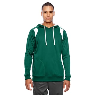Elite Men's Big and Tall Sport Forest/White Performance Hoodie